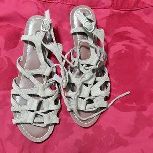 Taupe lace-up sandals Carlos Santana